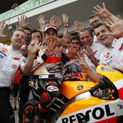 Marquez chalks up ninth win in a row